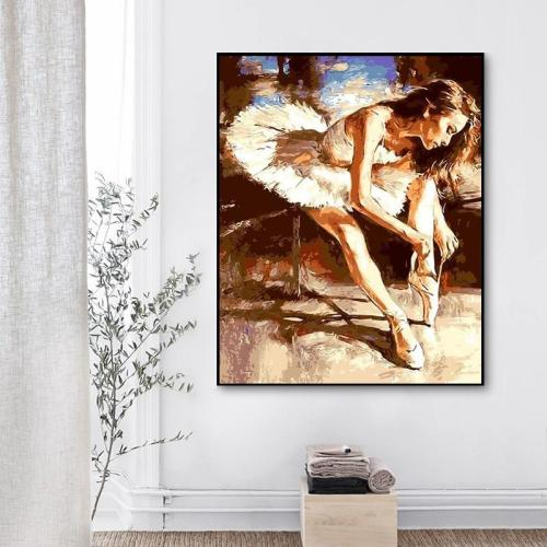 2021 Hot Sale Ballet Dancer Paint By Numbers Kits Uk Q686