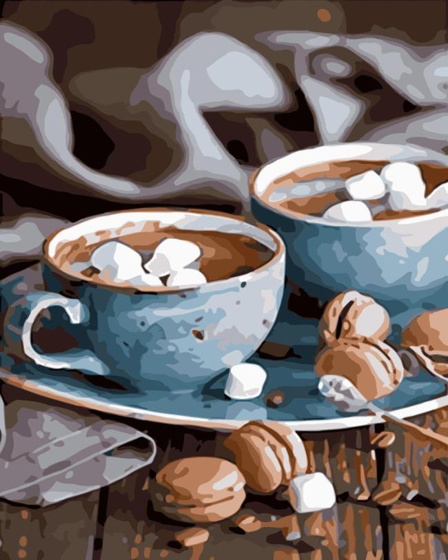 2021 Special Hot Coffee Paint By Numbers Kits UK WM344