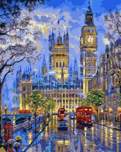 2021 Best Hot Sale Big Ben Paint By Numbers Kits UK XB681