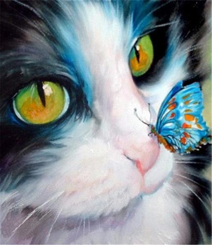 2021 Hot Sale Pet Cat Paint By Numbers Kits Uk PH9220