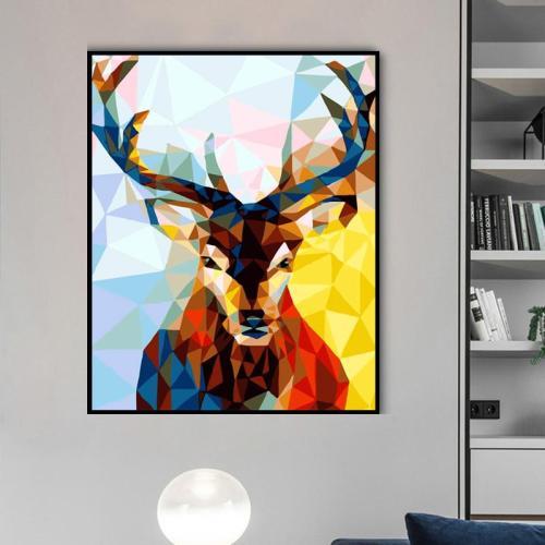 2021 Colorful Modern Art Deer Diy Paint By Numbers Kits Uk SY090
