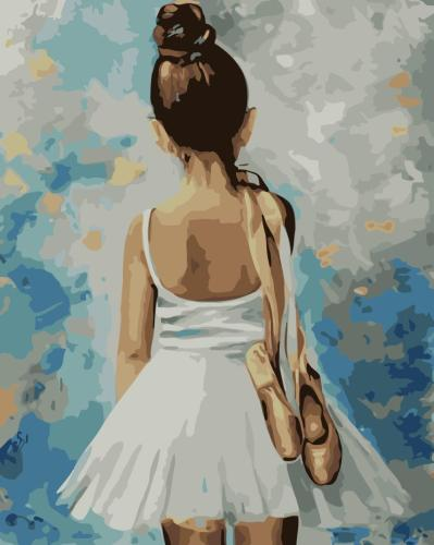 2021 Cute Girl Dancer Diy Paint By Numbers Kits Uk XQ3615