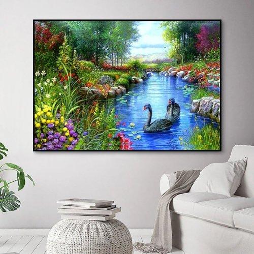 2021 Swan Diy Paint By Numbers Kits UK VM95807