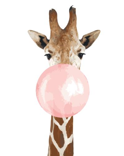 2021 Best Cute Cartoon Giraffe Diy Paint By Numbers Kits Uk YM193