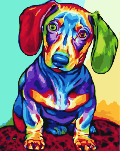 2021 Colorful Pet Dog Diy Paint By Numbers Kits Online Sale Uk WM767
