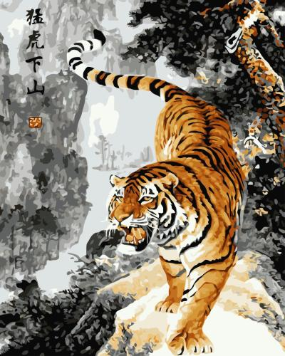 2021 Hot Sale Tiger Diy Paint By Numbers Kits Uk WM279