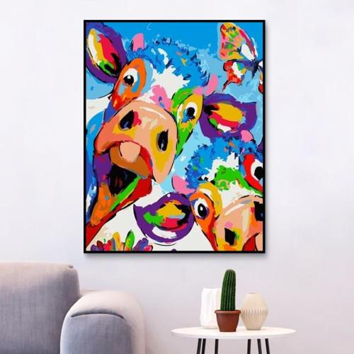 2021 Colorful Cow Diy Paint By Numbers Kits 2020 Hot Sale UK VM95511