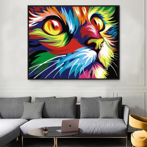 2021 Best Hot Sale Pet Colorful Cat Paint By Numbers Kits Uk VM00102