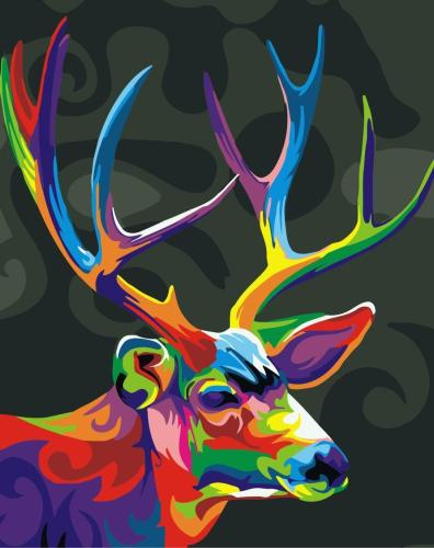 2021 Best Colourful Fantasy Style Deer Diy Paint By Numbers Kits Uk WM1176