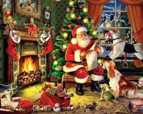 2021 Christmas Series Diy Paint By Numbers Kits Uk VM94656