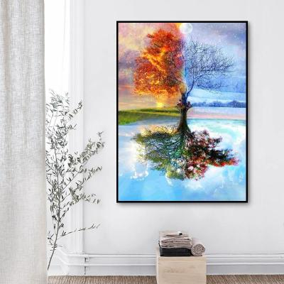 2021 Four Seasons Tree Diy Paint By Numbers Kits Hot Sale Uk WM103