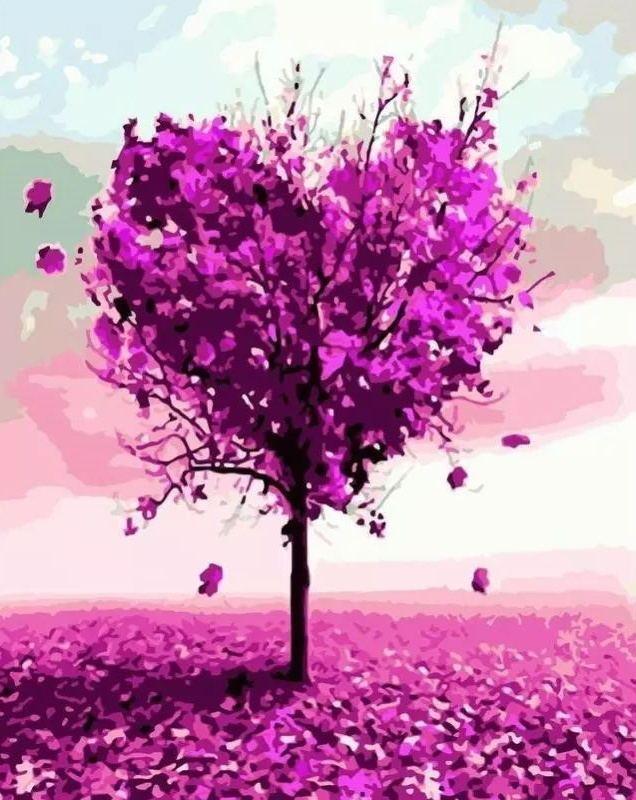 2021 Tree Diy Paint By Numbers Kits Uk WM521