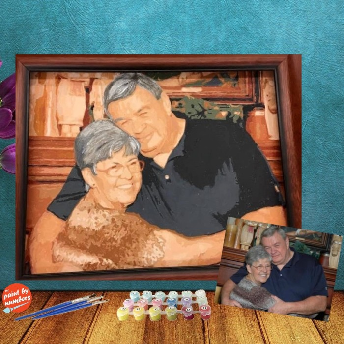 Personalised Photo Custom Diy Paint By Numbers Kits Uk PBN90268