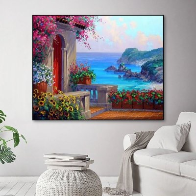 2021 Scenery Diy Paint By Numbers Kits Uk BN92716