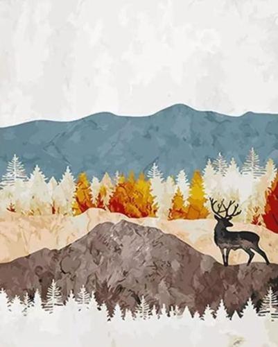 2021 Beautiful Landsacpe Diy Paint By Numbers Kits UK VM54614