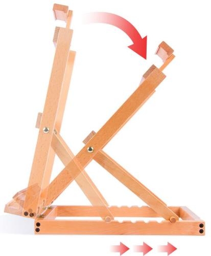 Wooden Easel Adjustable Sketch Painting Stand UK AT1043