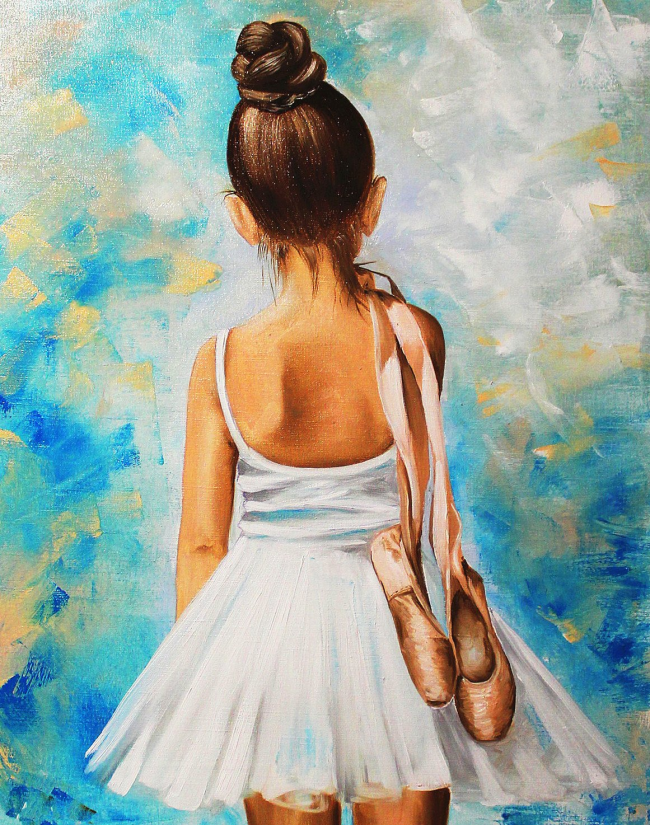 Diy Paint By Numbers  Beautiful Little Girl RSB8360