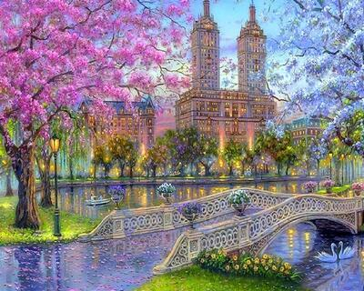 Hot Sale Landscape Fantasy Mystical Diy Paint By Numbers Kits Uk  RSB8470