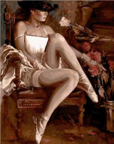 Portrait Woman Diy Paint By Numbers Kits Q1632