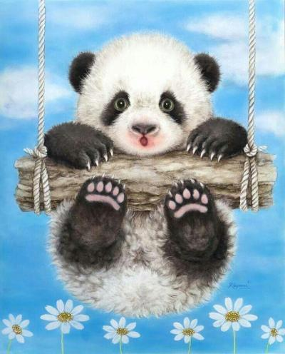 Best Hot Sale Animal Panda Paint By Numbers Kits Uk NP1719