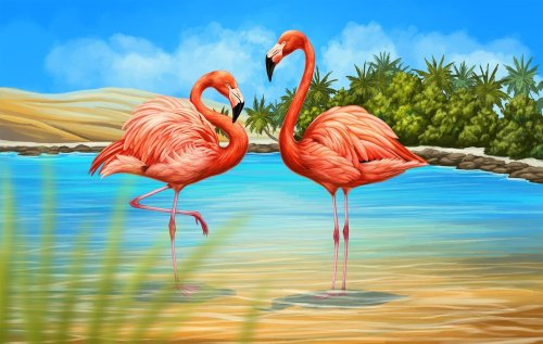 Animal Flamingo Diy Paint By Numbers OTG6010
