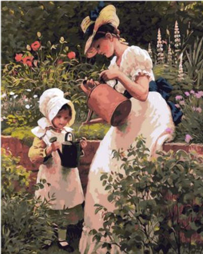 Mother And Daughter Diy Paint By Numbers Kits Q1417