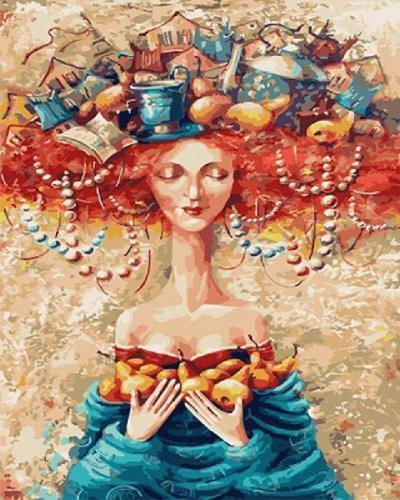 Portrait Woman Diy Paint By Numbers Kits VM96132