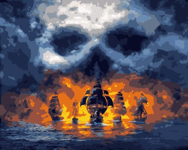 Skull Diy Paint By Numbers Kits WM1615