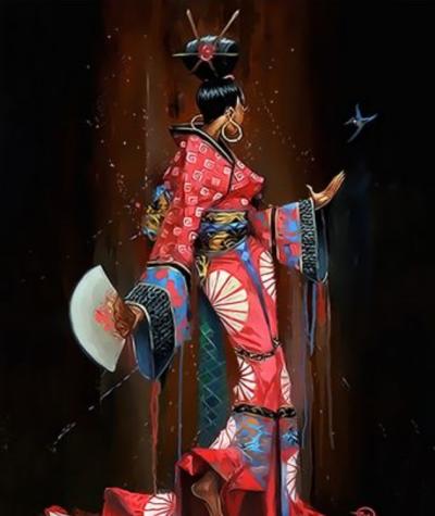 Portrait Woman Diy Paint By Numbers Kits  XQ3759