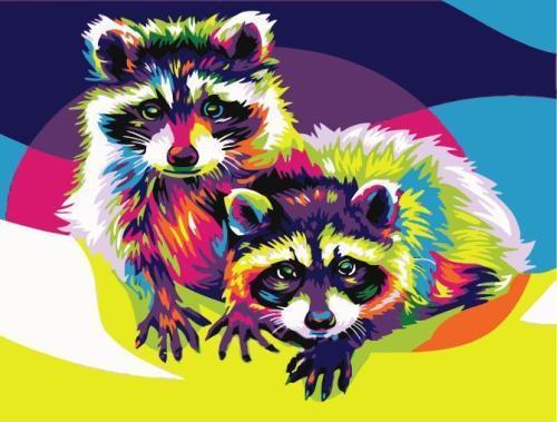 Raccoon Diy Paint By Numbers Kits WM1477
