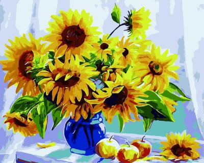 Sunflower Diy Paint By Numbers Kits WM1204