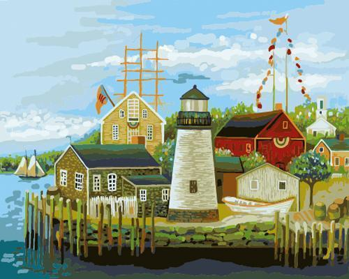 Lighthouse Diy Paint By Numbers Kits XB601
