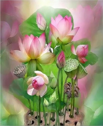 Lotus Diy Paint By Numbers Kits XQ3419