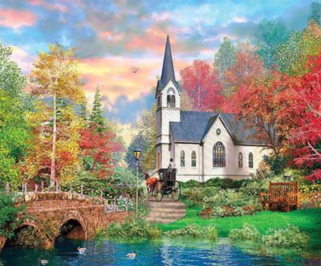 Landscape Cottage Diy Paint By Numbers Kits XQ3701