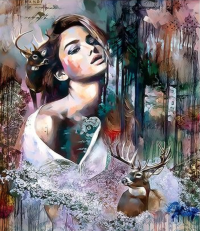 Beauty And Animal Diy Paint By Numbers Kits VM80060