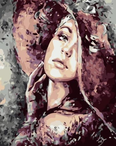 Portrait Woman Diy Paint By Numbers Kits WM937