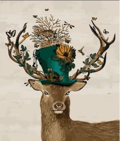 Animal Deer Diy Paint By Numbers Kits XZ118