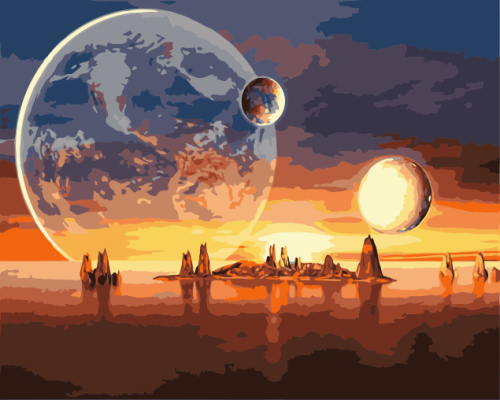 Space Diy Paint By Numbers Kits WM1597
