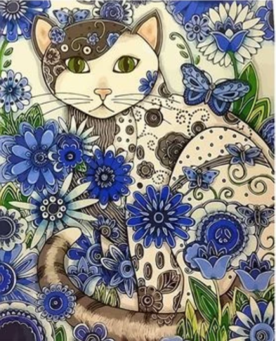 Cat Diy Paint By Numbers Kits XQ2745
