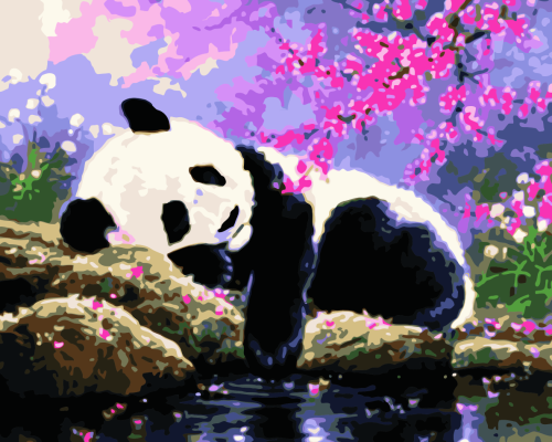 Lovely Panda Diy Paint By Numbers Kits WM854