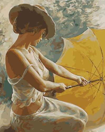 Portrait Woman Diy Paint By Numbers Kits WM908