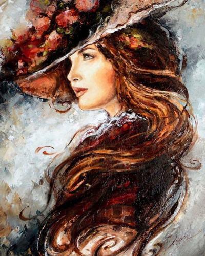 Portrait Woman Diy Paint By Numbers Kits VM94504
