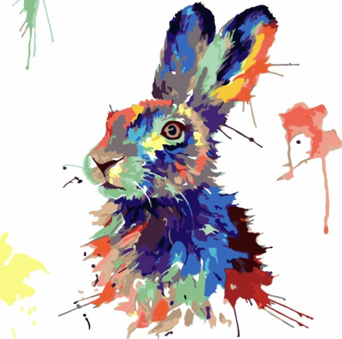 Rabbit Diy Paint By Numbers Kits WM1644