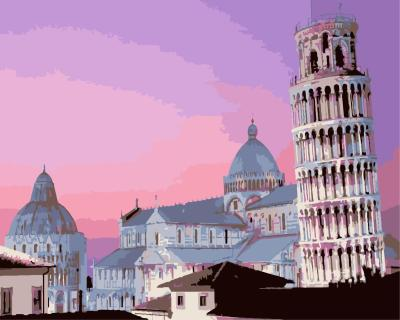 Leaning Tower of Pisa Diy Paint By Numbers Kits WM1784