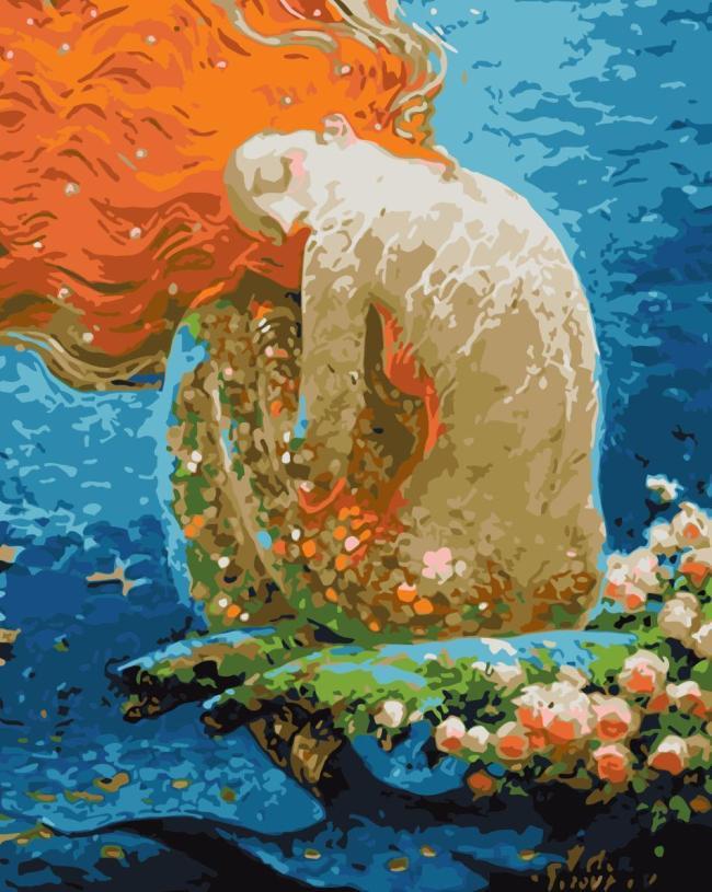 Mermaid Diy Paint By Numbers Kits WM1299