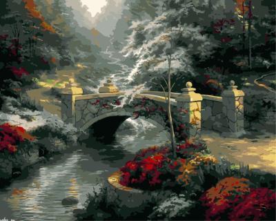 Landscape Bridge Mountain Diy Paint By Numbers Kits WM1175