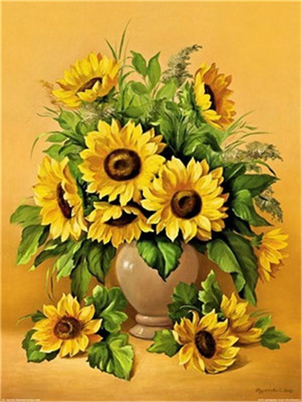 Sunflower Diy Paint By Numbers Y5272