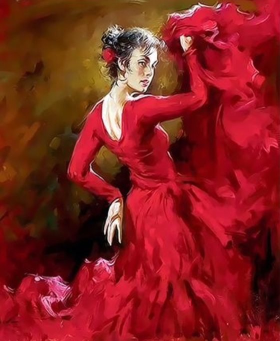 Dancer Diy Paint By Numbers Kits  XQ3437
