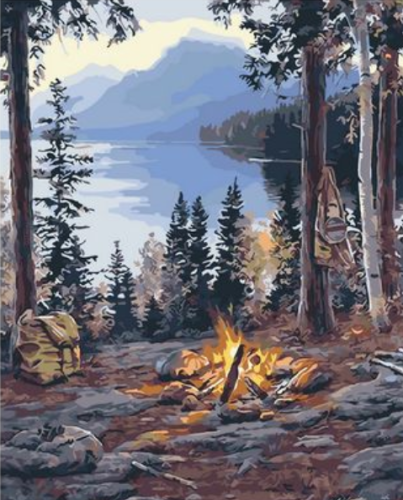 Landscape Mountain Lake Diy Paint By Numbers Kits XQ2471