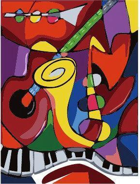 Music Diy Paint By Numbers Kits YM299